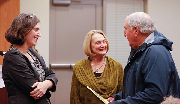 Kathleen Flenniken, Peggy Flynn, and Bob Rose